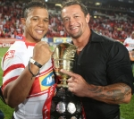 Elton Jantjies with Carlos Spencer