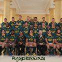 André Venter presents match day jerseys to Springboks